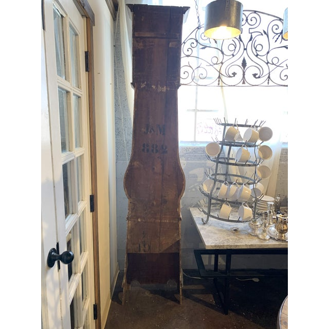 Antique French Painted Grandfather Clock For Sale - Image 12 of 13