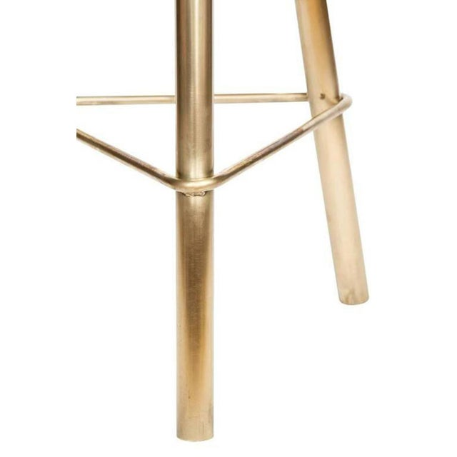 Customizable Set of 4 Erickson Aesthetics Brass Stool For Sale In New York - Image 6 of 6