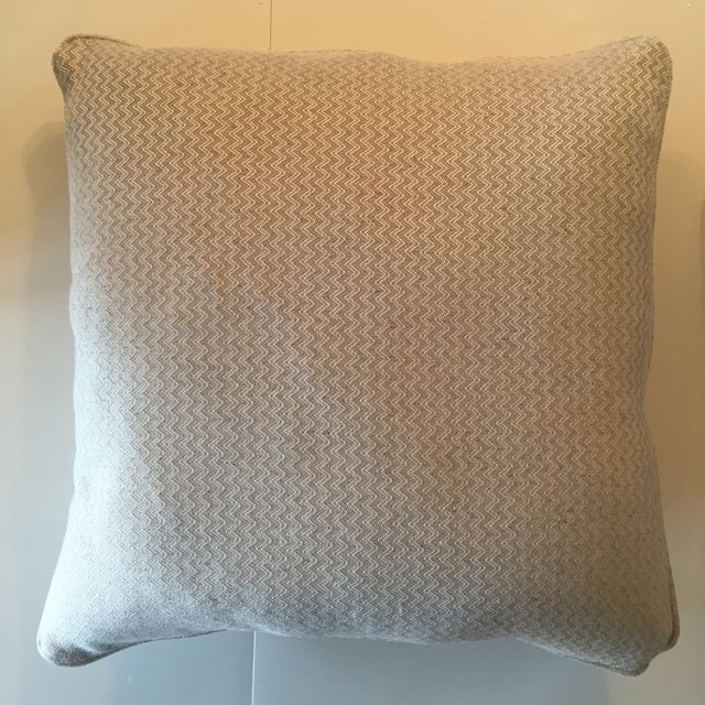 Nobilis Chevron Patterned Pillows - A Pair - Image 6 of 8