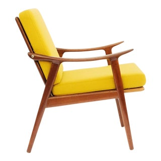 1950s Danish Modern Fredrik A. Keyser for Vantne Lenestolfabrikk Lounge Chair For Sale