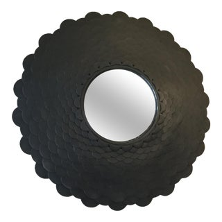 Round Bronze Scale Mirror For Sale