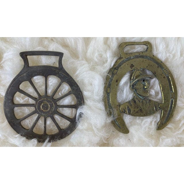 1900 - 1909 Antique Horse Brass Christmas Ornaments - Set of 12 For Sale - Image 5 of 8