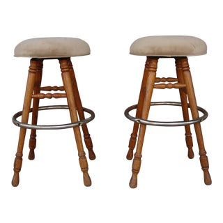 1990s Vintage Barstools - a Pair For Sale
