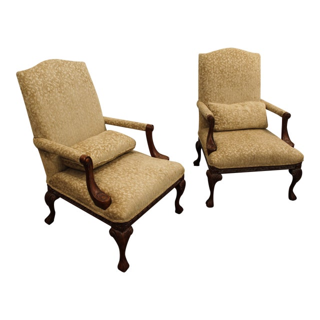 French Ladies Open Arm Ball & Claw Arm Chairs - A Pair - Image 1 of 11