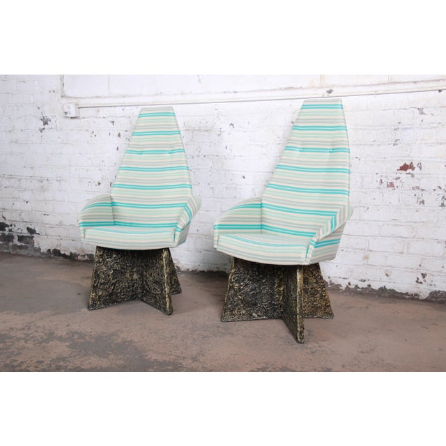 Adrian Pearsall Mid-Century Brutalist High Back Lounge Chairs - a Pair For Sale - Image 10 of 10
