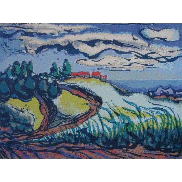 1940s Byron Randall Hawaii Silkscreen Print For Sale