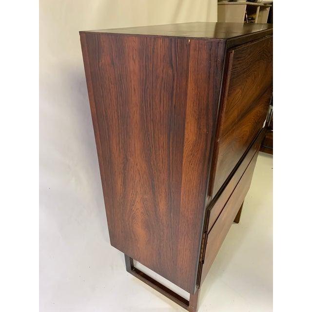 1960s Mid-Century Modern Arne Hovmand Olsen for Mogens Kold Mobelfabrik Rosewood Secretary Desk For Sale - Image 9 of 13