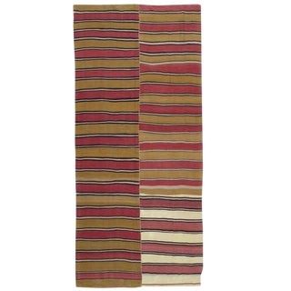 Banded Kilim Runner in Two Panels For Sale