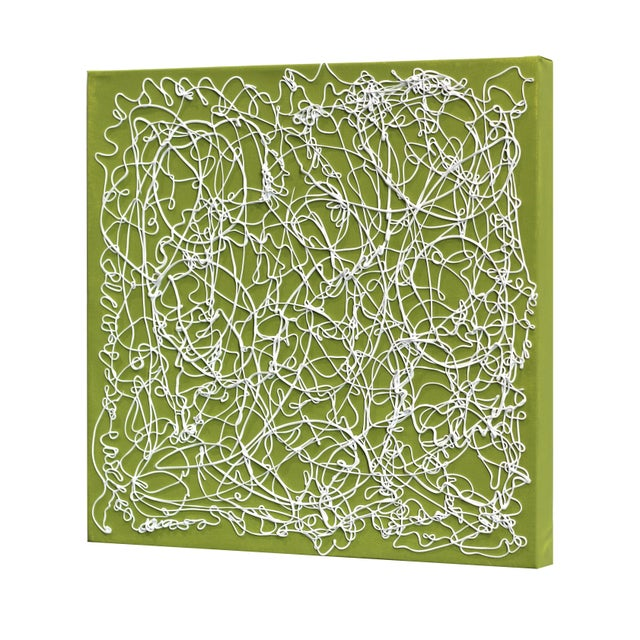 "Len Klikunas ""Olive Lace"" Original Abstract Painting For Sale In Los Angeles - Image 6 of 9"