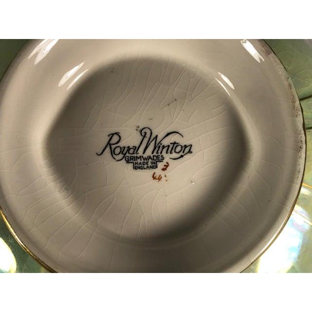 Vintage Royal Winton Grimwades Footed Trinket Dish For Sale - Image 10 of 11