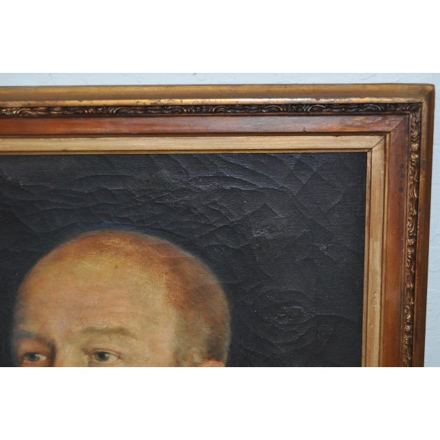 19th C. Male Oil Portrait - Image 6 of 8