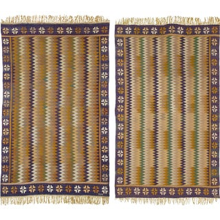 Early 20th Century Swedish Flat Weave Rugs by Märta Måås-Fjetterström- a Pair For Sale