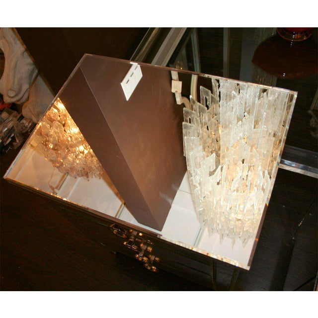 Silver Pair of Custom Mirrored End Tables For Sale - Image 8 of 9