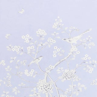 Sample - Schumacher X Mary McDonald Chinois Palais Wallpaper in Lavender For Sale