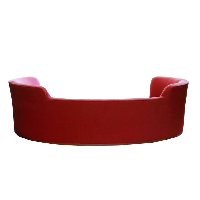 Mid-Century Modern Mid-Century Curved Dunbar Oasis Sofa by Edward Wormley For Sale - Image 3 of 9