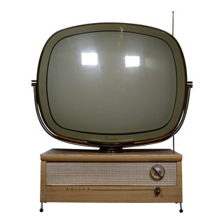 1958 Philco Swivel Top Televison Rewird and Cable Ready