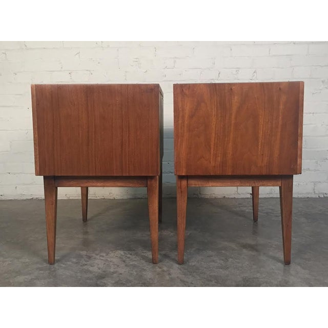 Thomasville Mid-Century Danish Modern Nightstands - a Pair - Image 4 of 7