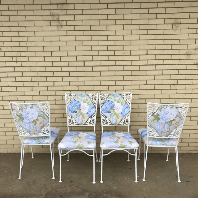 "Iron ""Garden Party"" Chairs - Set of 4 For Sale - Image 4 of 6"