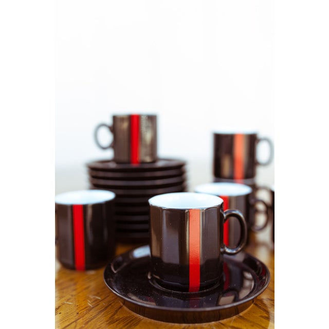 Vintage Espresso Cups and Saucers - Set Of 10 For Sale - Image 4 of 4
