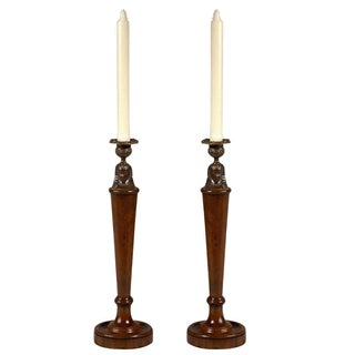 Vintage Sarreid Ltd Morgan Hill Candlesticks For Sale