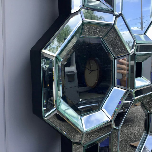 Monumental Size Mid Century Style Geometric Wall Mirror For Sale - Image 4 of 7
