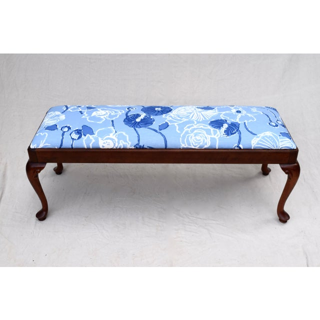 English Traditional Queen Anne Bench by Century For Sale - Image 3 of 11