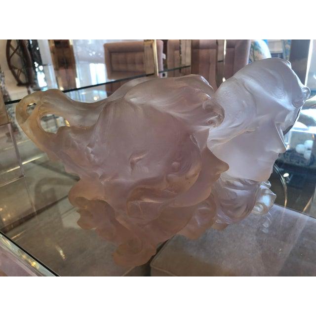 Pink Art Deco Nouveau Pink Planter Vase Pot For Sale - Image 8 of 12