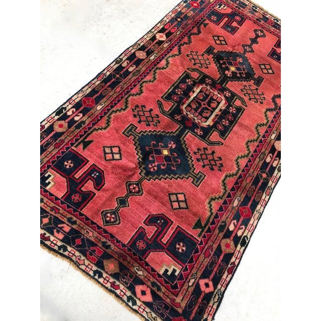 "Vintage Persian Rug - 4'4"" x 8' - Image 5 of 7"