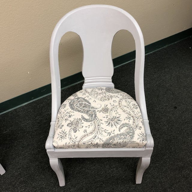 Vintage Chalk Paint Chairs - a Pair For Sale - Image 11 of 13