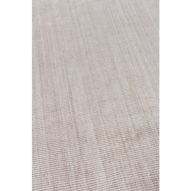 """Not Yet Made - Made To Order Hamm Hand loom Wool/Viscose Light Beige Rug-6'x9"""" For Sale - Image 5 of 8"""