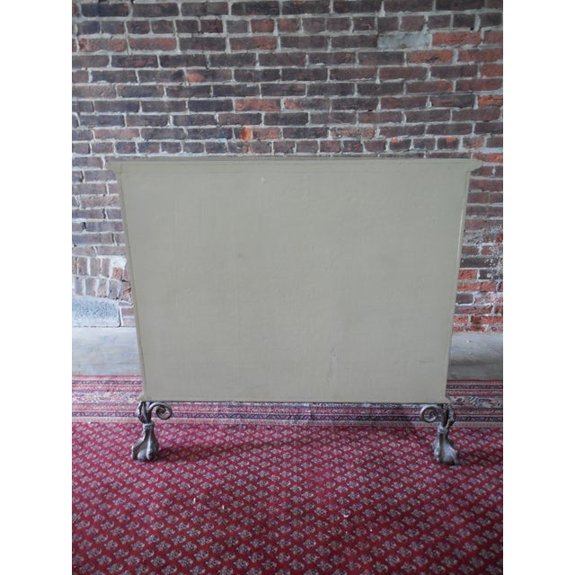 Block Front Chippendale Style Claw Footed Paint Distressed Shabby Chic Chest - Image 8 of 8