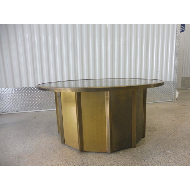 Metal 1980's Vintage Mastercraft Bernhard Rohne Musical Note Coffee Table For Sale - Image 7 of 9
