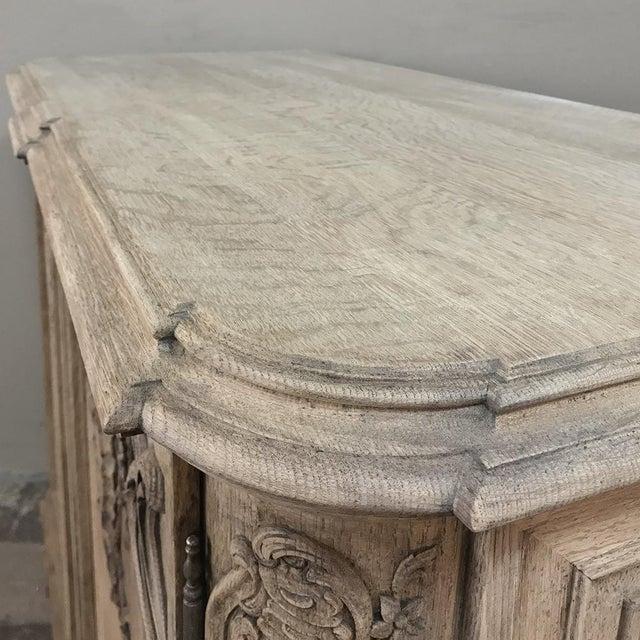 Oak 19th Century Liegoise Regence Stripped Oak Buffet For Sale - Image 7 of 13