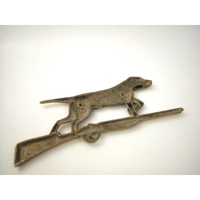 Brass Dog & Rifle Wall Hanging - Image 8 of 8