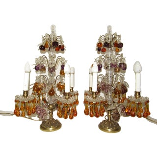 1920s French Girandole Table Lamps - a Pair For Sale