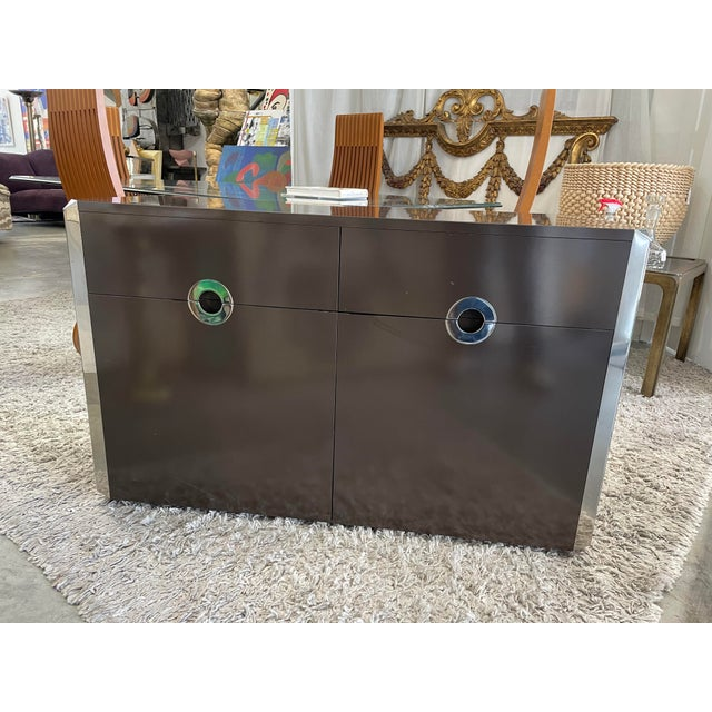 1974s Willy Rizzo Cabinet for Mario Sabot For Sale - Image 11 of 11
