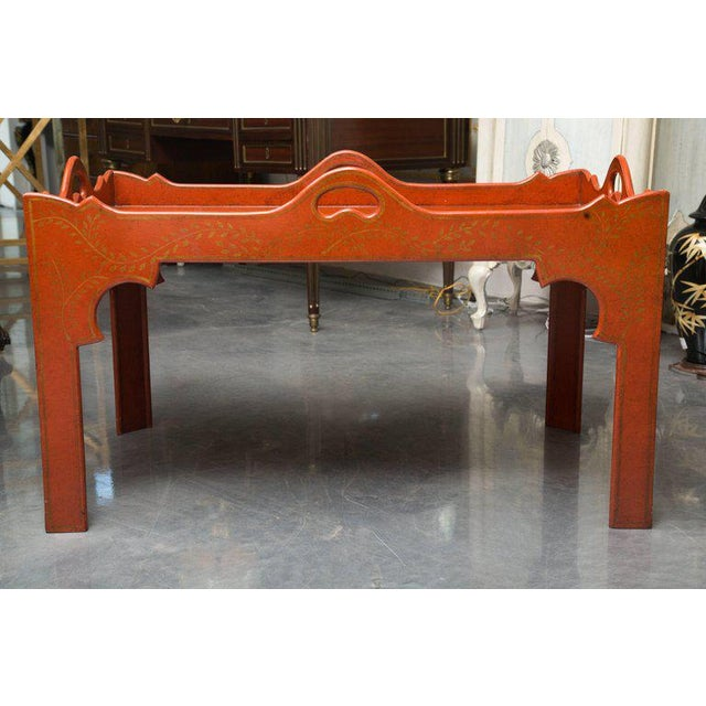 Painted, Decorated, and Lacquered Tray Table For Sale - Image 10 of 10