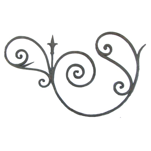 Art Nouveau 19th C. French Iron Architectural Element For Sale - Image 3 of 3