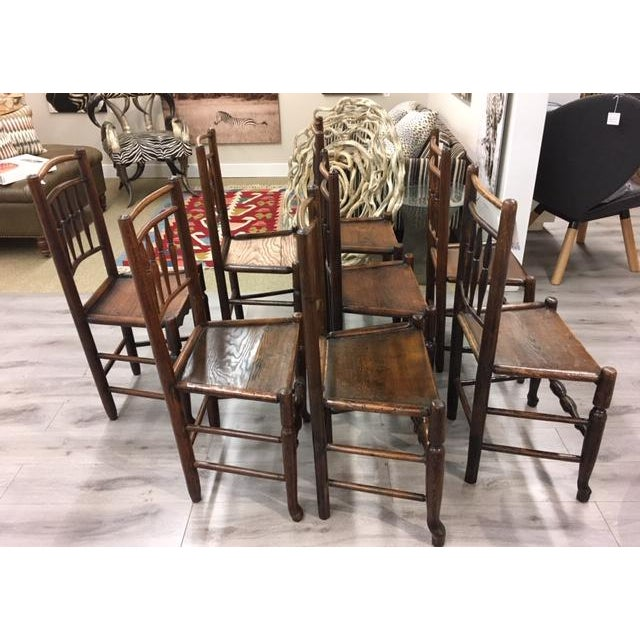 Americana Oak Side Chairs- Set of Eight For Sale - Image 3 of 7