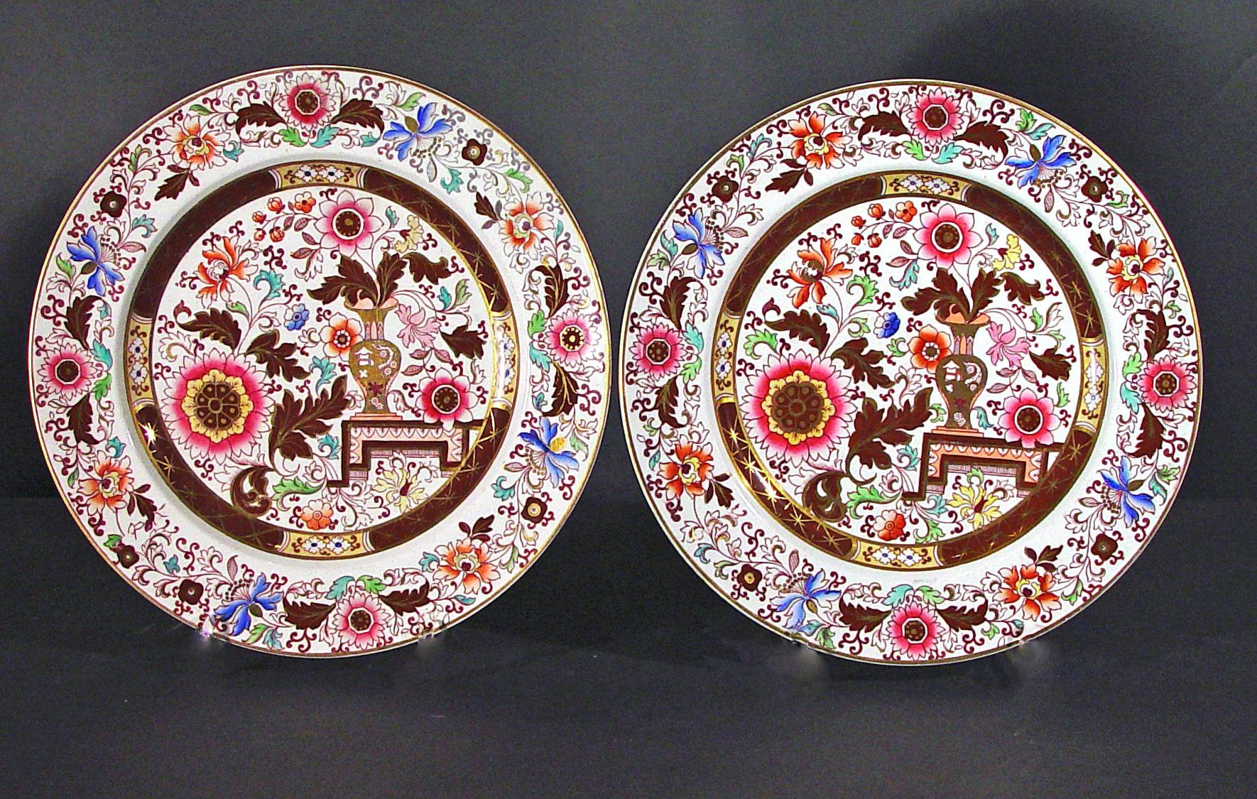 Ashworth Ironstone Large Dinner Plates - A Pair - Image 2 of 2  sc 1 st  Chairish & Ashworth Ironstone Large Dinner Plates - A Pair | Chairish