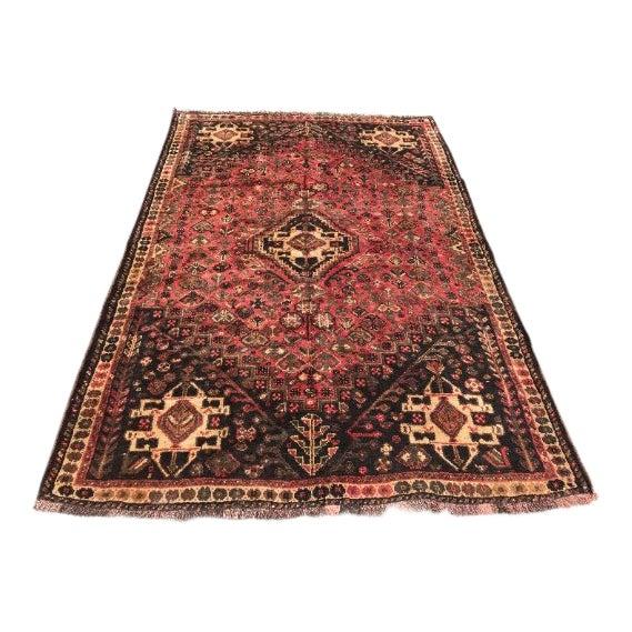 "1950s Traditional Shiraz Wool Rug - 5'3""x7'10"" For Sale"