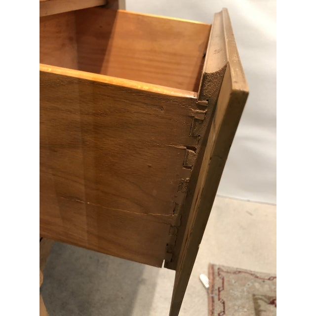 Mid Century Tiger Maple Night Stands - a Pair For Sale - Image 9 of 10