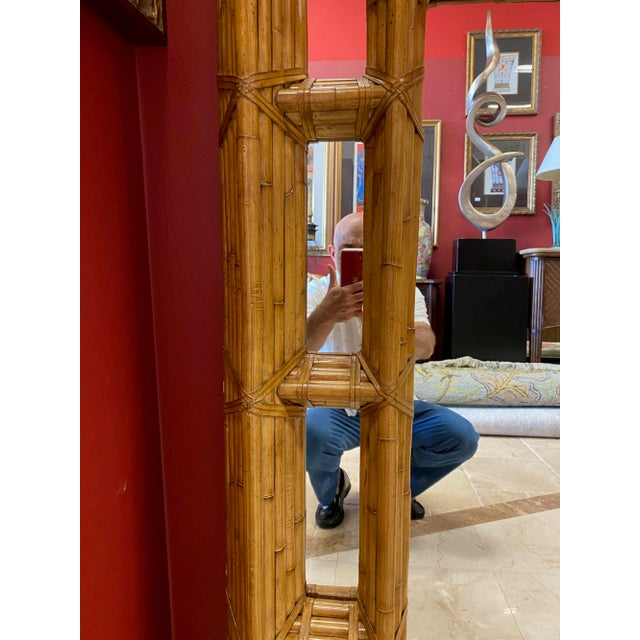 Kreiss Vintage Kreiss Rattan Mirror For Sale - Image 4 of 11