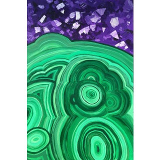 """""""Amethyst & Malachite Daydream"""" Abstract Painting For Sale"""