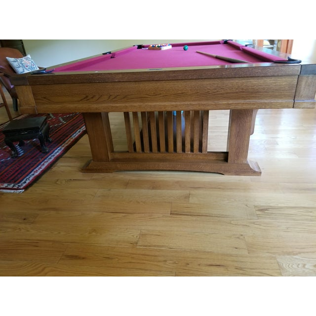 Brunswick Centennial Craftsman Pool Table Chairish - Brunswick centennial pool table