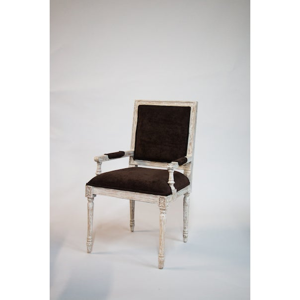 French Reproduction Armchair For Sale - Image 3 of 3