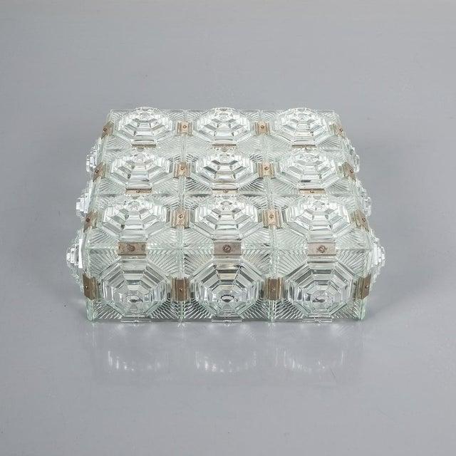 1 of 7 Kamenicky Senov Bohemian Glass Flush Mount Ceiling Lamp, Czechia For Sale - Image 6 of 13