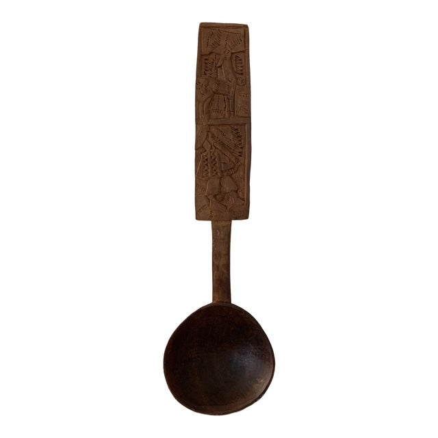 Hand Carved Peruvian Wooden Spoon For Sale