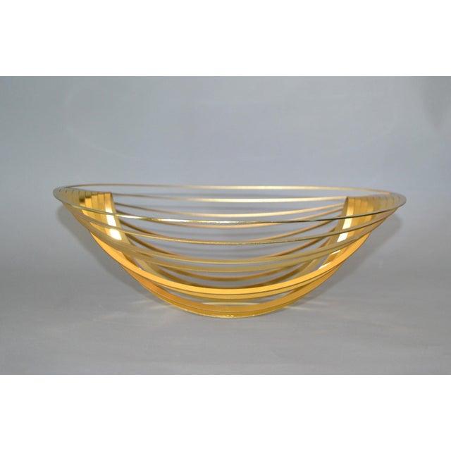 1980s Modern Sculptural Golden Brass Rocking Bowl, Eight Mood, Sweden For Sale - Image 5 of 11