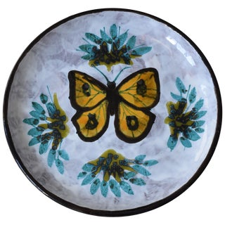 Vintage Butterfly Ceramic Centrepiece or Vide Poche For Sale